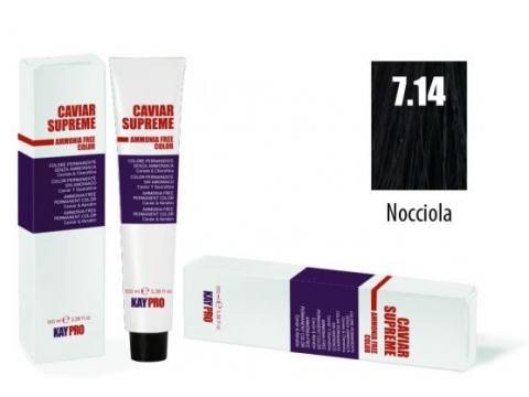 CAVIAR SUPREME - CREMA COLORANTE Kreminiai plaukų dažai be amoniako ir pPD 7.14 Nocciola