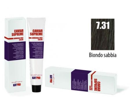 CAVIAR SUPREME - CREMA COLORANTE Kreminiai plaukų dažai be amoniako ir pPD 7.31 Biondo sabbia
