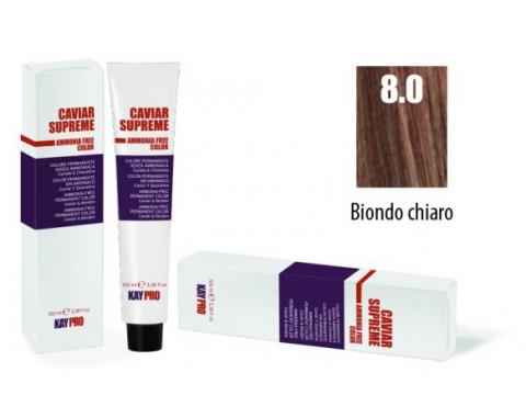 CAVIAR SUPREME - CREMA COLORANTE Kreminiai plaukų dažai be amoniako ir pPD 8.0 Biondo chiaro