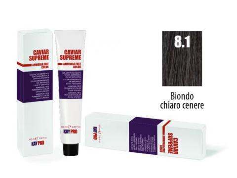 CAVIAR SUPREME - CREMA COLORANTE Kreminiai plaukų dažai be amoniako ir pPD 8.1 Biondo chiaro cenere