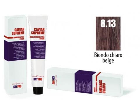CAVIAR SUPREME - CREMA COLORANTE Kreminiai plaukų dažai be amoniako ir pPD 8.13  Biondo chiaro beige