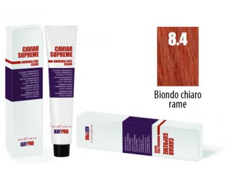 CAVIAR SUPREME - CREMA COLORANTE Kreminiai plaukų dažai be amoniako ir pPD 8.4 Biondo chiaro rame
