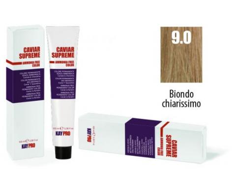 CAVIAR SUPREME - CREMA COLORANTE Kreminiai plaukų dažai be amoniako ir pPD 9.0 Biondo chiarissimo