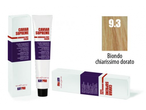 CAVIAR SUPREME - CREMA COLORANTE Kreminiai plaukų dažai be amoniako ir pPD 9.3 Biondo chiarissimo dorato