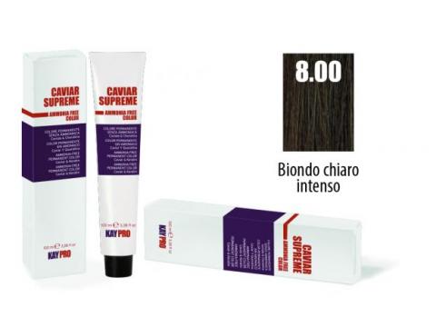 CAVIAR SUPREME - CREMA COLORANTE Kreminiai plaukų dažai be amoniako ir pPD 8.0 Biondo chiaro intenso