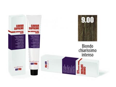 CAVIAR SUPREME - CREMA COLORANTE Kreminiai plaukų dažai be amoniako ir pPD 9.0 Biondo chiarissimo intenso