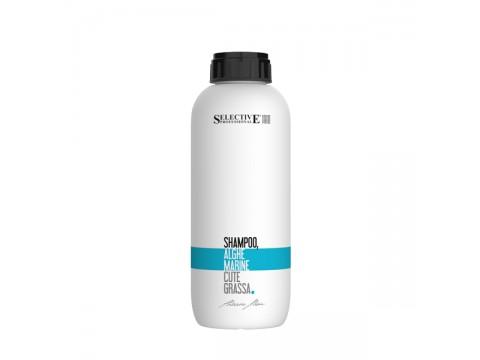 SELECTIVE ALGHE MARINE Šampūnas riebiai galvos odai su jūros dumblių ekstraktu,1000 ml