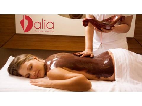 """Ypatingas detoksikuojantis viso kūno masažas """"Šokolado palaima"""" su įvyniojimu 1 val. 30 min."""
