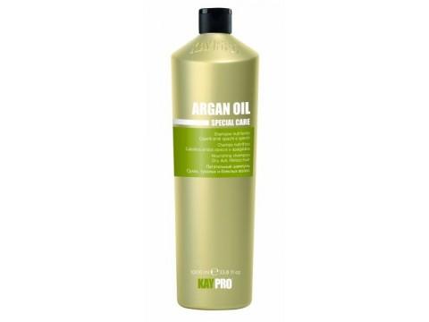 KAY PRO ARGAN OIL maitinamasis šampūnas sausiems, silpniems, nualintiems plaukams, 1000 ml.
